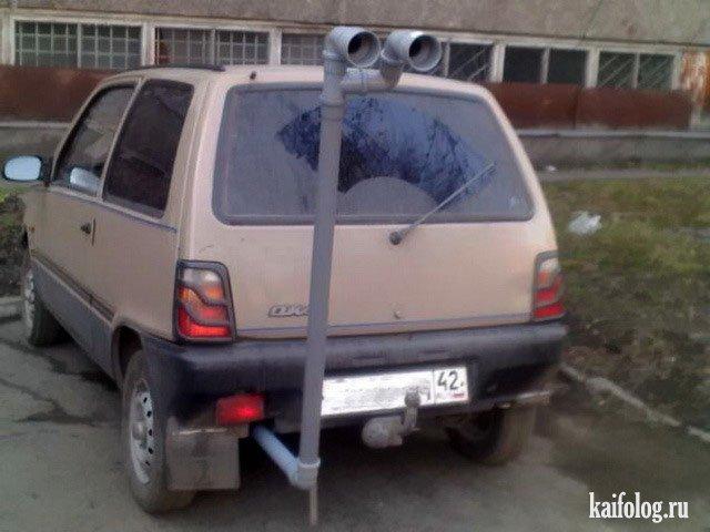 Убойные авто приколы (50 фото)