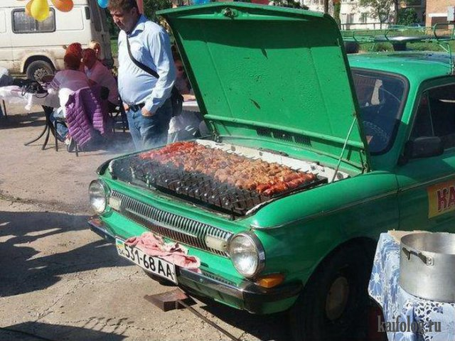 Убойные авто приколы (45 фото)