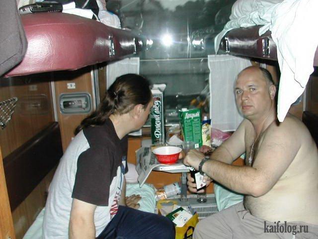 фото идиотов в поездах модного мелирования темных