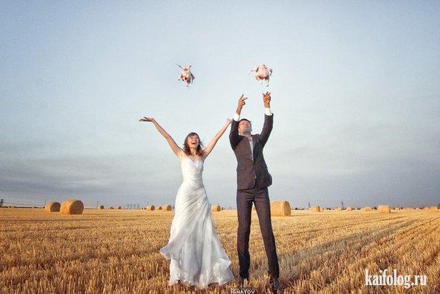 Свадебные фото бывают разные (50 приколов)