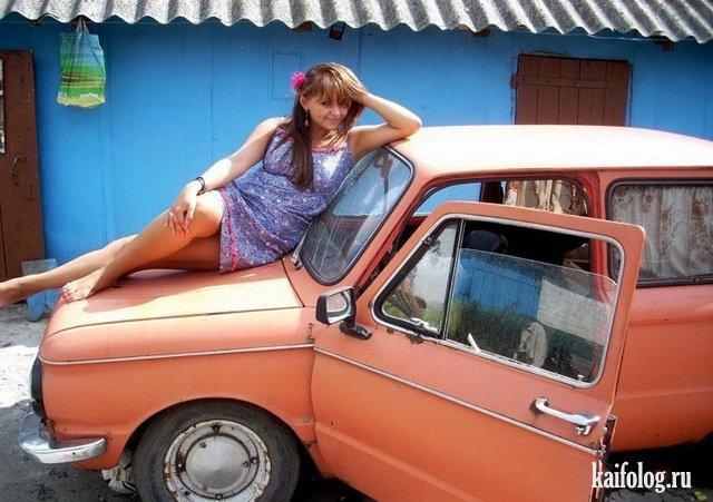 Прикольные одноклассники и их авто (60 фото)