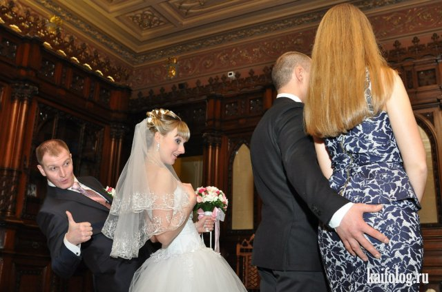 Реально прикольные свадебные фото (50 штук)