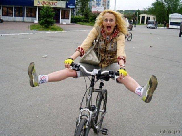 Приколы про велосипеды и велосипедистов (50 фото)