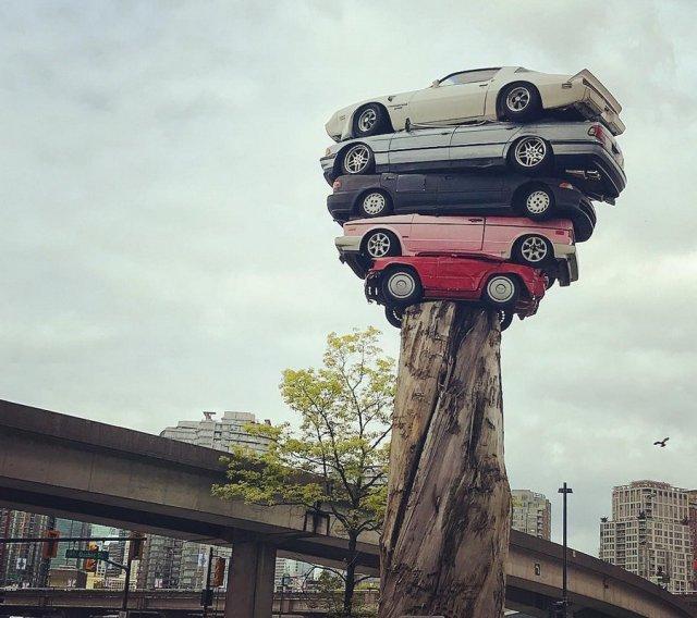 Приколы с авто и водителями (45 фото)
