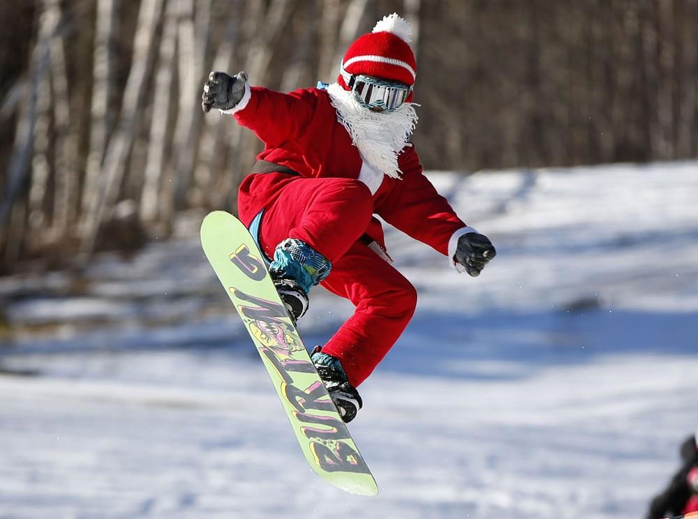 снегурочка на сноуборде фото красивым мехом, покажите