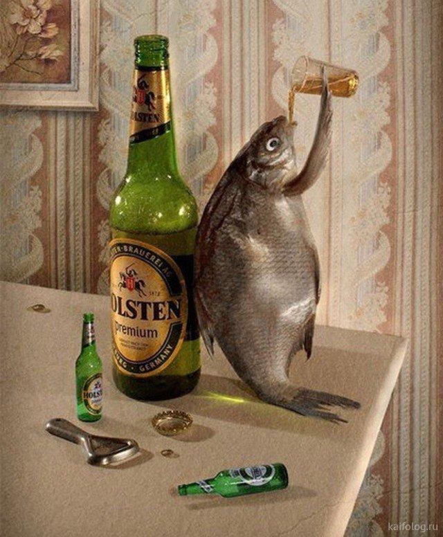 Рыба с пивом картинки прикольные
