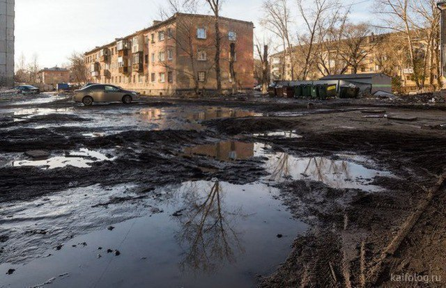 Весенний дорожный кошмар в России (45 фото)