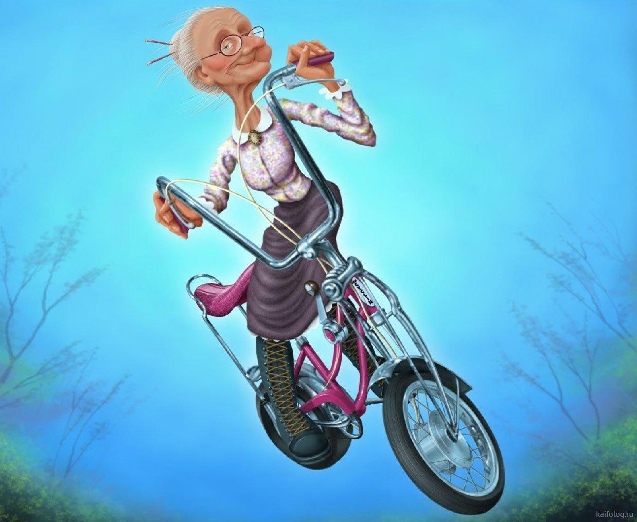 Велосипеды юмор в картинках