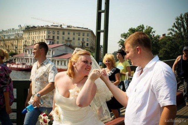 35 прикольных свадебных фото