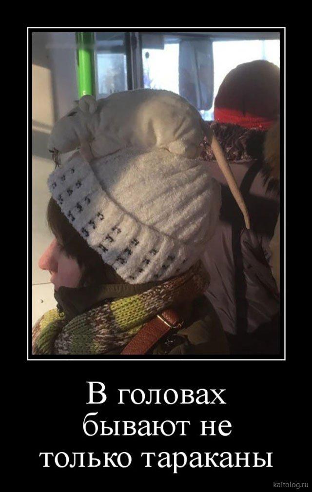 Демотиваторы в шапке