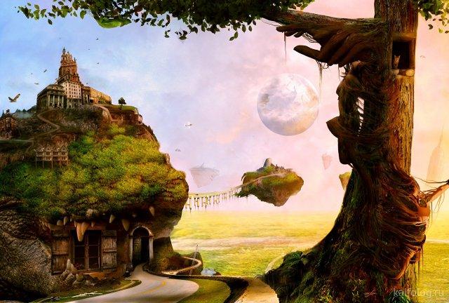 Мир глазами фантастов (40 картин)