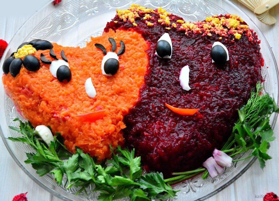 часть салаты в виде животных рецепты с фото нужно детального