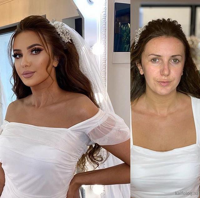 А после свадьбы она умылась (30 фото)