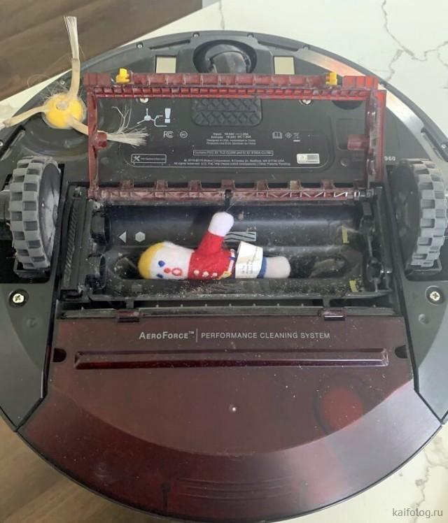 Неудачи роботов-пылесосов (40 фото)