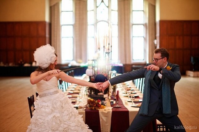 Странные свадебные фото (40 штук)