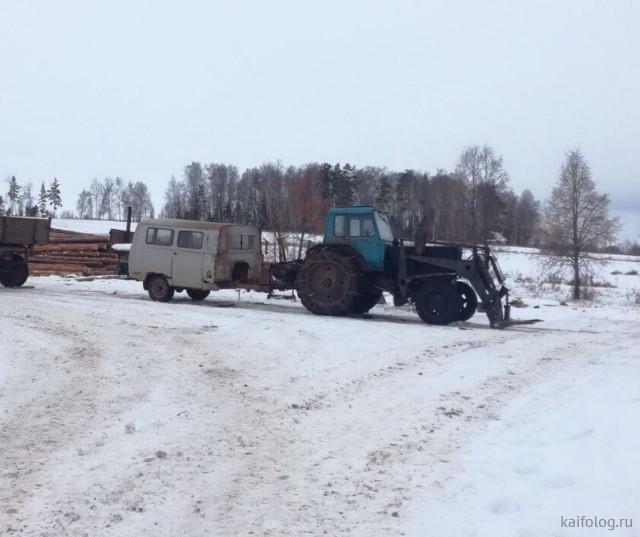 Русские авто-приколы (55 фото)