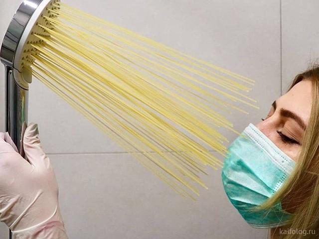Девушки против коронавируса (40 фото)